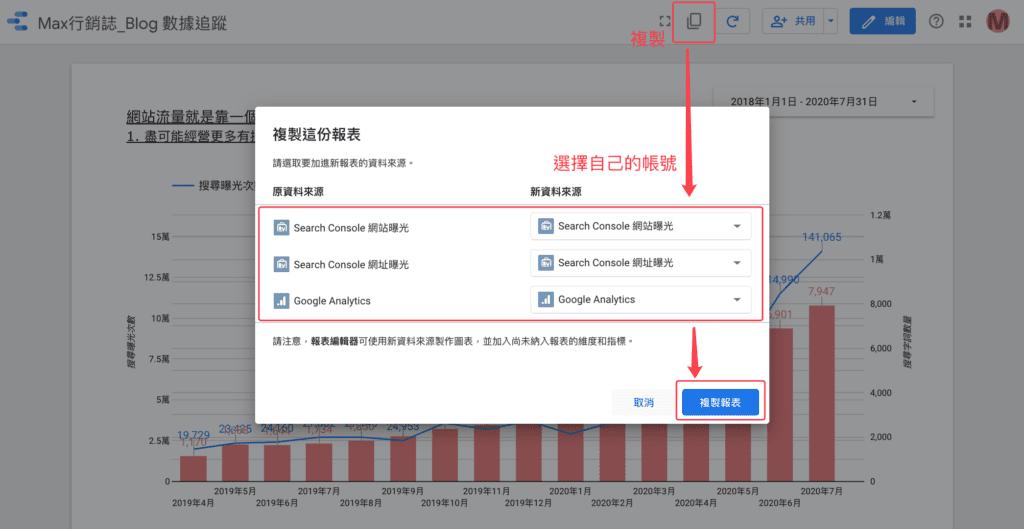 Blog Dashboard DataStudio  Template 複製